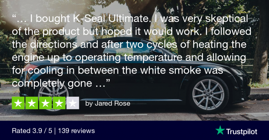TrusPilot review from Jared Rose explains how K-Seal Ultimate fixed his Audi TT coolant leak.